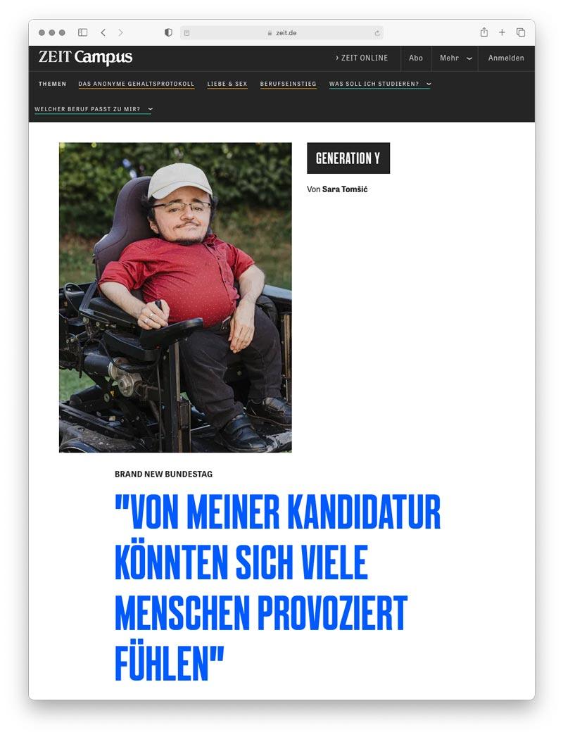 Artikel auf Zeit.de
