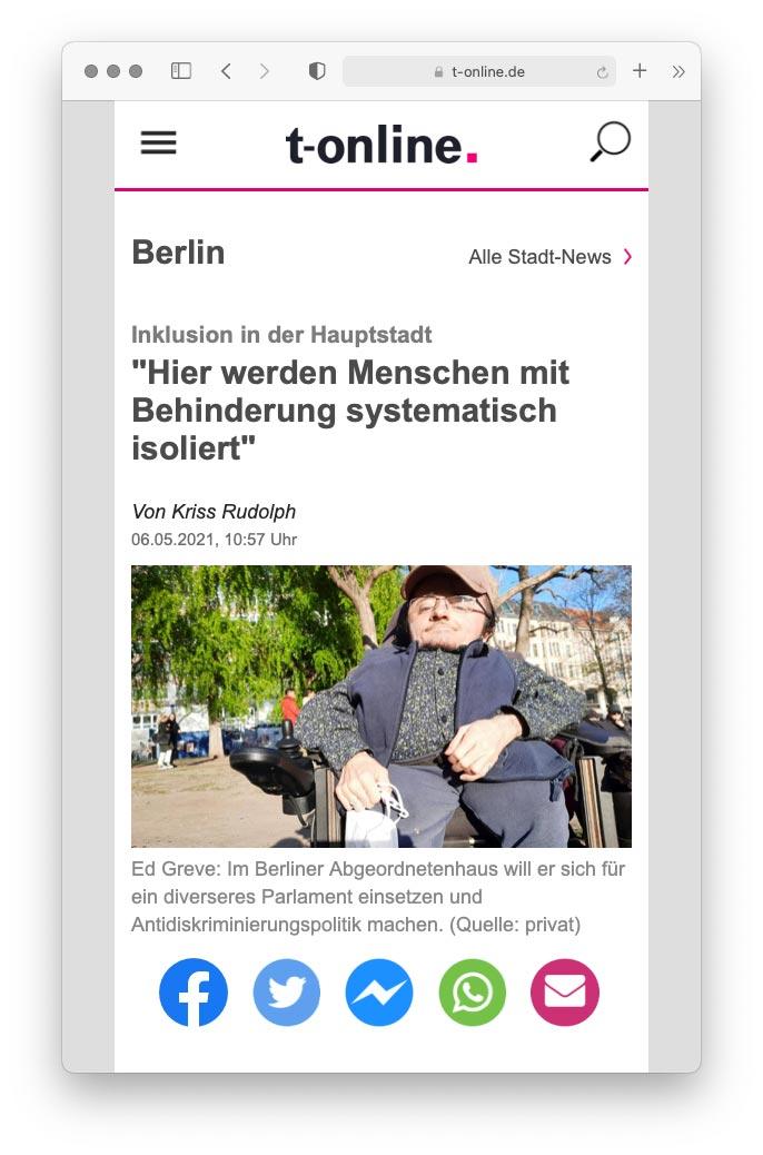 Artikel auf t-online.de